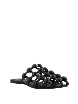 Alexander Wang: Loafers & Slippers online - Amelia leather cage slippers