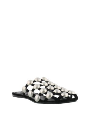 Alexander Wang: Loafers & Slippers online - Amelia studded cage slippers