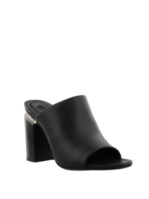 Alexander Wang: mules shoes online - Avery leather mules