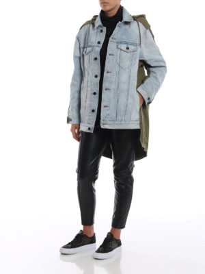 ALEXANDER WANG: giacche denim online - Giacca Daze Mix in denim e cotone