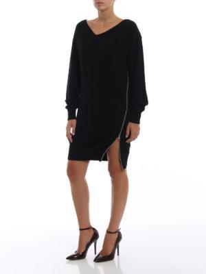 ALEXANDER WANG: abiti corti online - Abito in misto cashmere con zip di lato