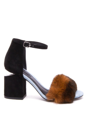 Alexander Wang: sandals - Abby suede and fur sandals