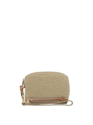 Alexander Wang: wallets & purses - Beige hammered leather wallet