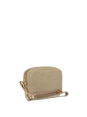 Alexander Wang: wallets & purses online - Beige hammered leather wallet