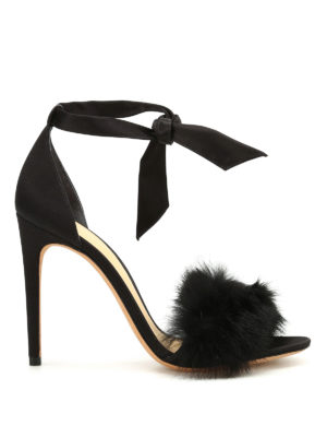Alexandre Birman: sandals - Clarita fur and satin sandals