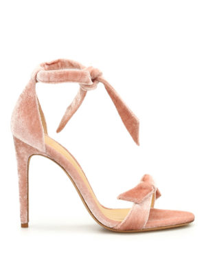 Alexandre Birman: sandals - Clarita velvet sandals
