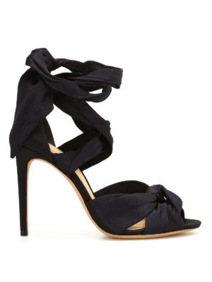 Alexandre Birman: sandals - Leah multi bow satin sandals