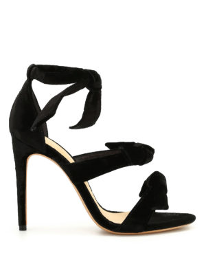 Alexandre Birman: sandals - Mary velvet sandals
