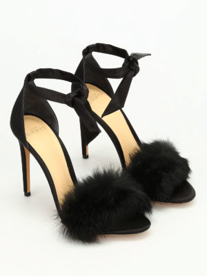 Alexandre Birman: sandals online - Clarita fur and satin sandals