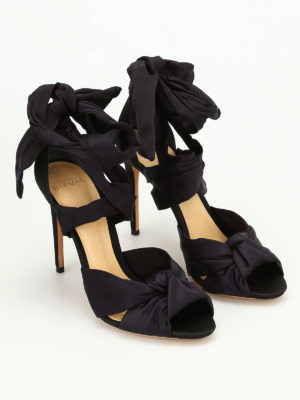 Alexandre Birman: sandals online - Leah multi bow satin sandals