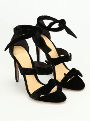 Alexandre Birman: sandals online - Mary velvet sandals