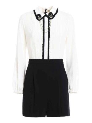 Alice+Olivia: jumpsuits - Kara two-tone romper