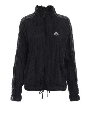 ALJA: giacche casual - Giacca a vento nera stropicciata