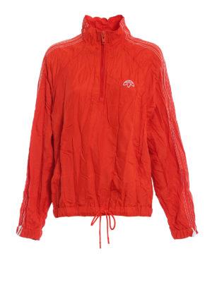 ALJA: giacche casual - Giacca a vento arancione stropicciata