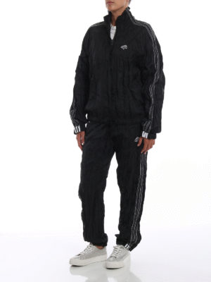 ALJA: giacche casual online - Giacca a vento nera stropicciata