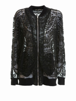 Amen: bombers - Embroidered tulle bomber