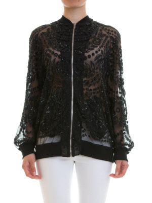 Amen: bombers online - Embroidered tulle bomber