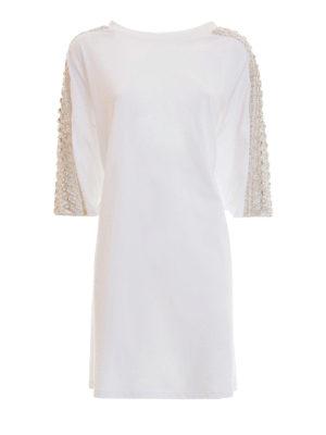 Amen: knee length dresses - Embellished Tee-style dress