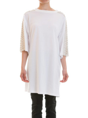 Amen: knee length dresses online - Embellished Tee-style dress