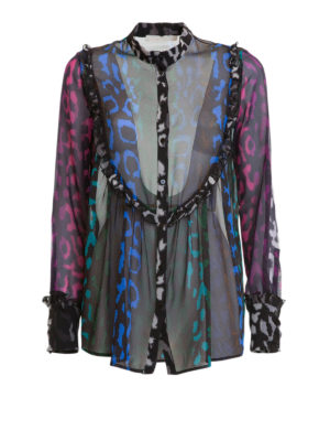Amen: shirts - Printed sheer silk shirt