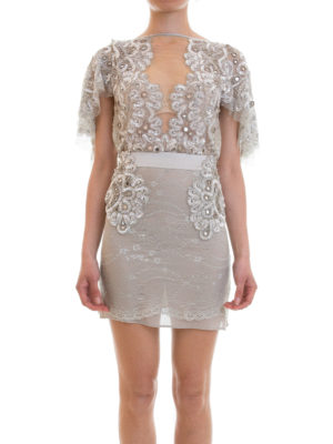 Amen: short dresses online - Embroidered lace and tulle dress