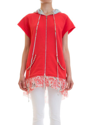 Amen: Sweatshirts & Sweaters online - Floral silk panelled sweatshirt
