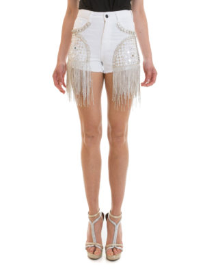 Amen: Trousers Shorts online - Rhinestone cascade shorts