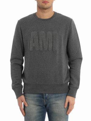 Ami Alexandre Mattiussi: Sweatshirts & Sweaters online - Terry cloth logo sweatshirt