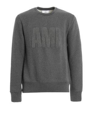 Ami Alexandre Mattiussi: Sweatshirts & Sweaters - Terry cloth logo sweatshirt
