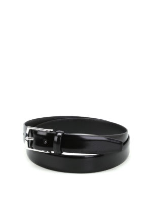 Anderson's: belts - Black brushed leather belt