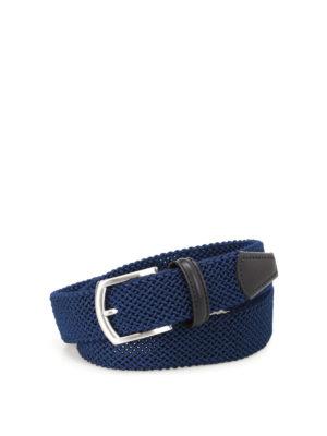 Anderson's: belts - Blue stretch woven belt