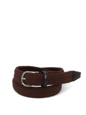 Anderson's: cinture - Cintura in ciniglia marrone intrecciata