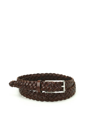 Anderson's: belts - Brown woven leather belt