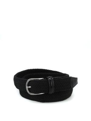 Anderson's: cinture - Cintura con fibbia ciniglia blu intrecciata