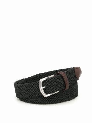 Anderson's: belts - Dark green stretch woven belt