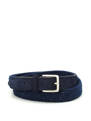 Anderson's: belts - Melange blue woven fabric belt