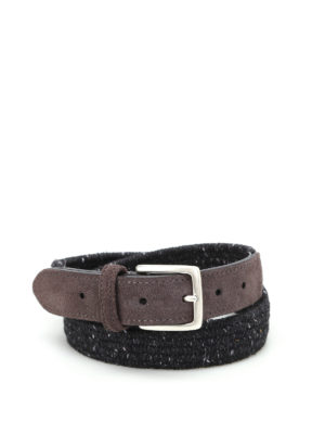 Anderson's: belts - Melange woven fabric belt