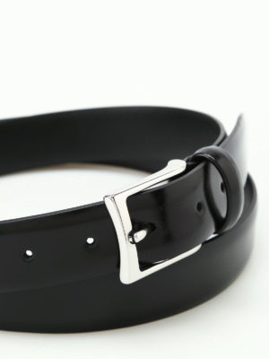 Anderson's: belts online - Black brushed leather belt