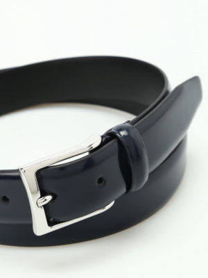 Anderson's: belts online - Blue brushed leather belt