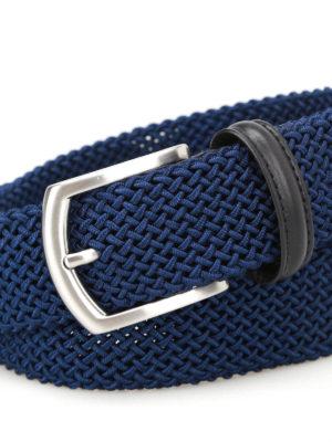Anderson's: belts online - Blue stretch woven belt