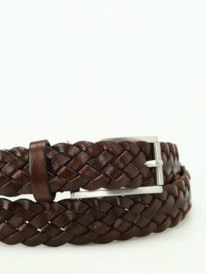 Anderson's: belts online - Brown woven leather belt