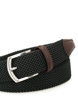 Anderson's: belts online - Dark green stretch woven belt