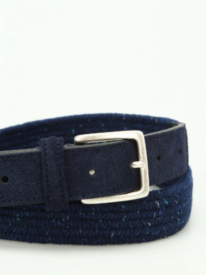 Anderson's: belts online - Melange blue woven fabric belt