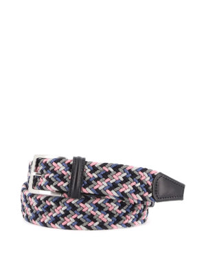 Anderson's: belts - Pink and blue stretch woven belt