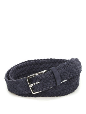 Andrea D'Amico: belts - Braided suede belt