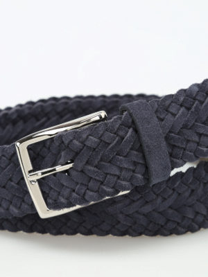 Andrea D'Amico: belts online - Braided suede belt