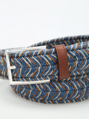 Andrea D'Amico: belts online - Two-tone braided belt