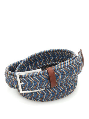 Andrea D'Amico: belts - Two-tone braided belt
