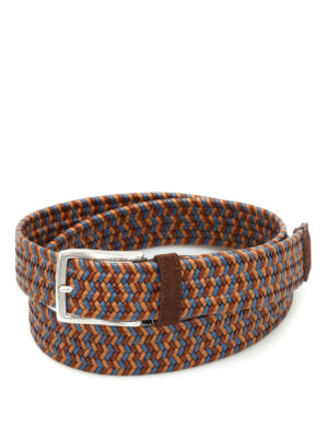 Andrea D'Amico: belts - Two-tone braided leather belt