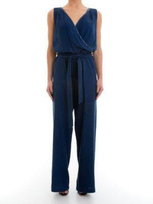 Angelo Marani: jumpsuits online - Embellished belted jumpsuit